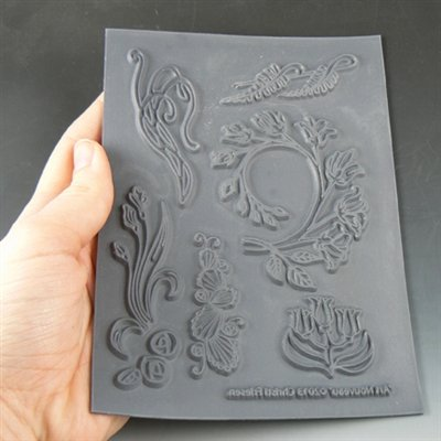 (Great Create Christi Friesen Texture Stamp, 5.5-Inch by 4.5-Inch, Art Nouveau,)