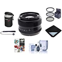 Fujifilm XF 35mm (53mm) F/1.4 Lens - Bundle with 52mm Filter Kit, Lens Pouch, Capleash, Cleaning Kit, Lens Wrap, Software Package