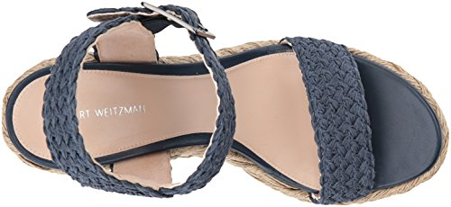 Stuart Weitzman Women's Alexis Wedge Sandal Nice Blue Crochet outlet for cheap manchester great sale sale online quality free shipping low price zBZ3lsTY1N