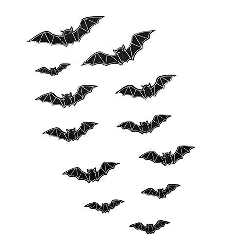 (Lovewe Removable 3D DIY PVC Bat Luminous Wall Sticker Decal Home Halloween)