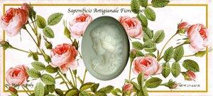 Saponificio Artigianale Fiorentino's Rose Garden Cameo 3 x 4.40 Oz. Soap Gift Set From Italy - Cameo Garden