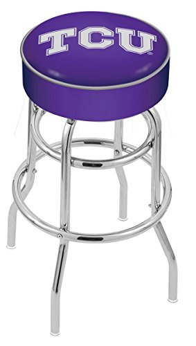 Holland Bar Stool L7C1 Texas Christian University Swivel Counter Stool, 25'' by Holland Bar Stool