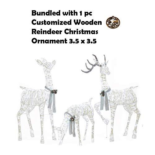 Outdoor Lighted Reindeer Family in US - 8