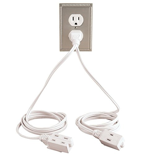 Trenton Gifts Double Ended Extension Cord | White