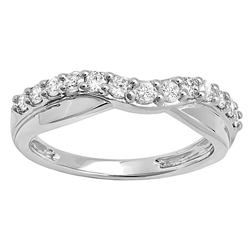 White Gold Contour Engagement Ring - 4
