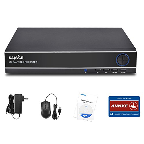 SANNCE 1080N 8CH Video Security DVR Digital Recorder, 8-Channel 1080N, Supports 960H/HDCVI/HDTVI/AHD/IP, HDD & Cameras NOT Included, Remote Smartphone Access,Motion Detect,Email Alarm(NO HDD) by SANNCE