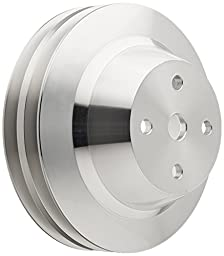 March Performance 6052 Clear Powder Coated Billet Aluminum Single-Groove Long Water Pump Pulley