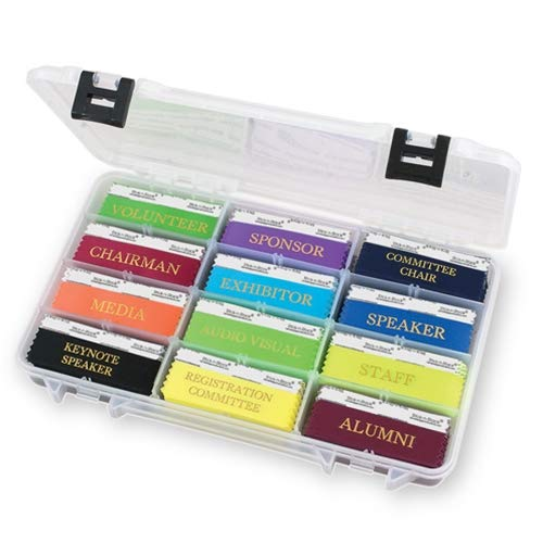 - Name Badge Productions - 14 x 8 3/4 x 1 Inch Ribbon Holder - Heavy Duty Molded Plastic with Dividers