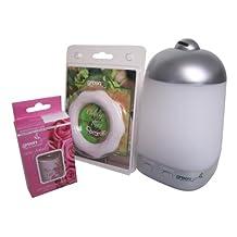 GreenAir SpaMister Ultrasonic Oil Diffuser Milk Glass Advanced Wellness Instant Healthful Mist Therapy