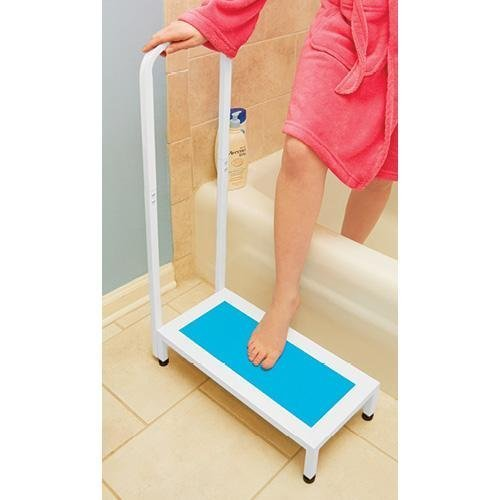 (NON-SLIP SAFETY SUPPORT BATH STEP WITH HANDLE - SUPPORTS UP TO 500 LBS)