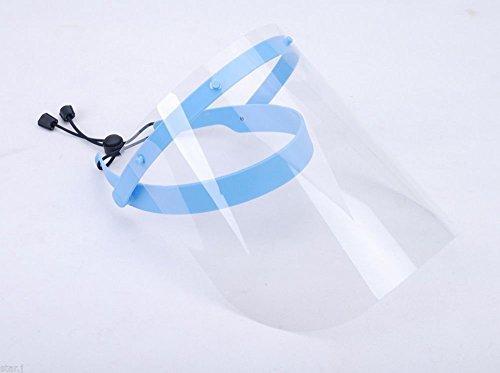 NSKR HPS Dental Anti-fog Adjustable Full Face Shield with 10 Plastic Protective Film (blue)