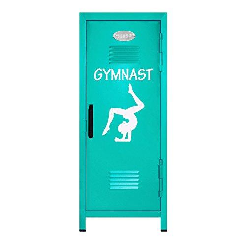 Teal/White Gymnastics Mini Locker Gift - 10.75