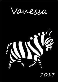 Book personalisierter Kalender 2017 'Vanessa': DIN A5 - eine Woche pro Doppelseite - Taschenkalender - Wochenkalender