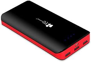 EC Technology 22400mAh Batería Externa para Smartphones- Negro & Rojo