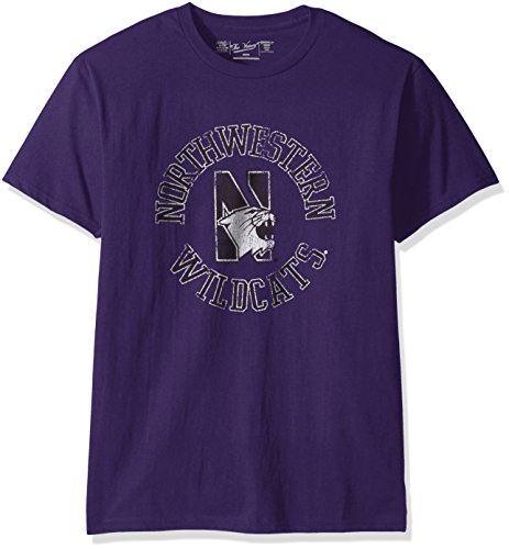Original Retro Brand NCAA Northwestern Wildcats Men's Victory Vintage Tee, X-Large, Purple