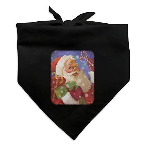GRAPHICS & MORE Christmas Holiday Santa Presents Candy Canes Dog Pet Bandana - Black