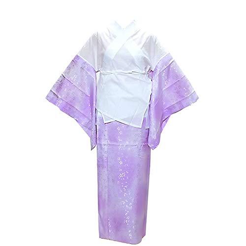 [ 京都きもの町 ] 洗える 二部式襦袢「ラベンダーぼかし」