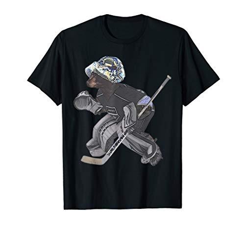 - Bear Hockey Goalie T Shirt - by Behrbones