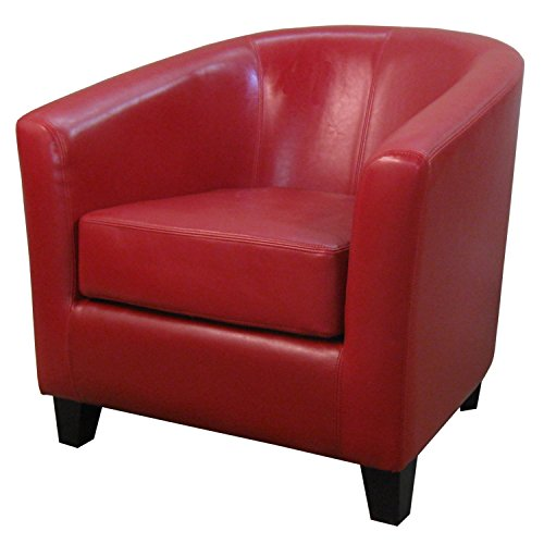 New Pacific Direct 193010B-67 Hayden Bonded Leather Tub Accent Chairs, ()