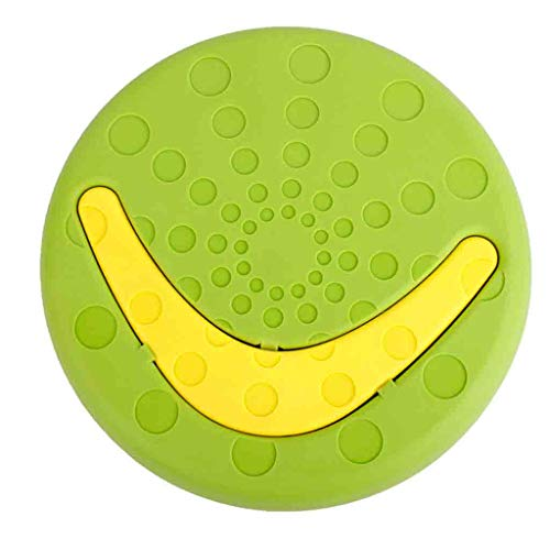 Wannafly Dog Toys Dog Tug Double Training Flying Disc Rubber Durable Floating Rings Teething Cleaner Dental Healthy for Outdoor Games Throwing Catching Great for Medium Large Breeds Dog (Green)