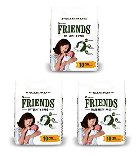 Friends Disposable Maternity Pads with Elastic Loop for Post Pregnancy Bleeding – 30 Pcs