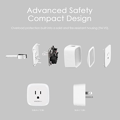 VOCOlinc PM1 Smart Wi-Fi Outlet Plug, Energy Monitoring, Adjustable Night Light, Works with Apple HomeKit, Alexa and Google Assistant, No Hub Required, Wi-Fi 2.4GHz (1 Pack) by VOCOlinc (Image #3)