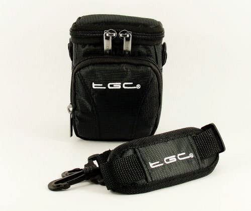 The TGC /® Jet Black Deluxe Compact Shoulder Carry Case Bag for the Ricoh GR DIGITAL III Camera
