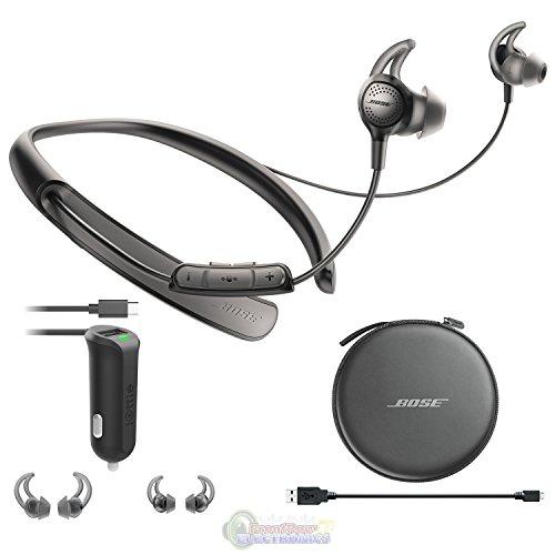 Bose Quietcontrol 30 Wireless Headphones, Noise Cancelling - Black & Car Charger Bundle