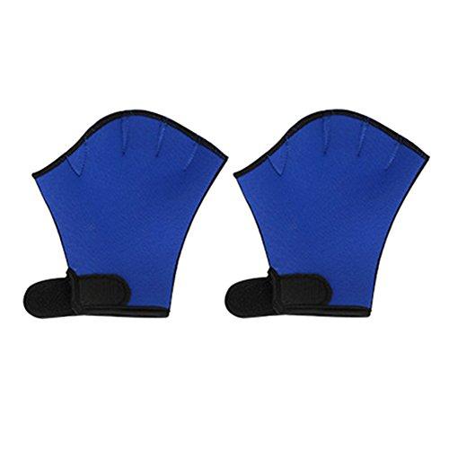 EDTara Sphere Webbed Swim Gloves Diving Finger Fin Surfing Swimming Sports Paddle Training Fingerless Gloves