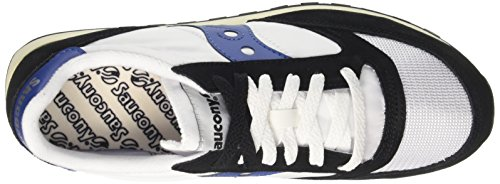 White 15 Original Jazz para Cross Vintage Black Saucony Hombre Blanco Zapatillas de qPFRFzw