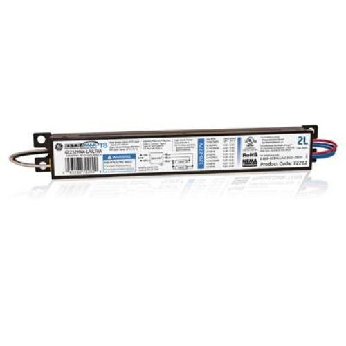 GE Lighting 72262 GE232MAX-L/ULTRA 120/277-Volt UltraMax Electronic Fluorescent T8 Multi-Volt Instant Start Ballast 2 or 1 F32T8 Lamps