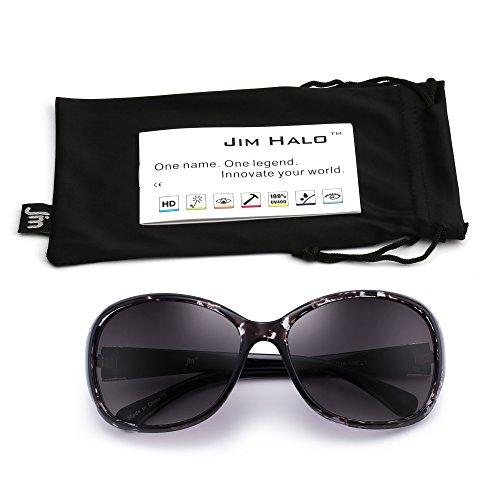 Classiques Dégradé Femmes Rétro de Tortue UV400 Noire Lunettes Gris Protection Solair Oversize Lunette soleil wRtn0C
