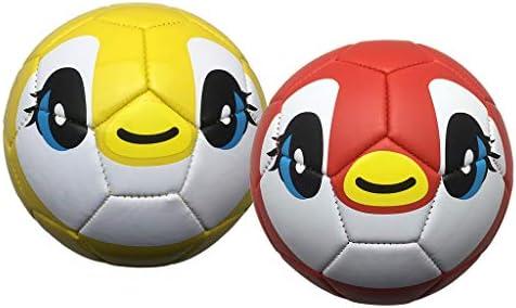 perfeclan 2X Bolas de Fútbol de PU Suave Patraón Lindos Pelota ...
