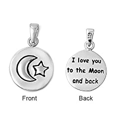 "41PAqKFrosL. SL250  ""Love Beyond the Moon & Stars"" Pendant Necklace for $3.24 Shipped!"
