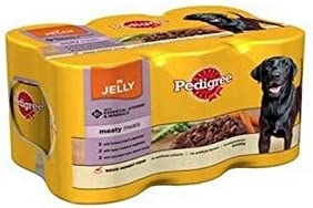 Pedigree Meaty Meals in Jelly Adult Dog Food Tins 400gm 6 Pack (2.4kg) (Pack of 2) – Dogs Corner
