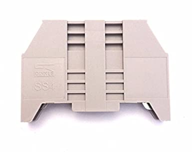 Dinkle SS4 DIN Rail Terminal Block End Bracket Screw Type