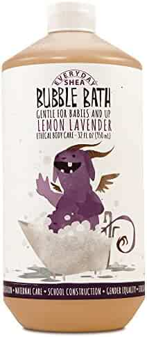 Alaffia - EveryDay Shea - Moisturizing Shea Butter Bubble Bath for Babies, Lemon-Lavender, 32 Ounces