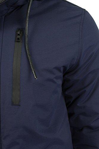 pelo hombre Para Tokyo con Laundry Parka de Oscuro Azul sintético capucha Carmine rI8zqwI