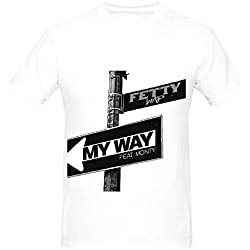 Fetty Wap My Way Tour Hits Men Crew Neck Music Shirts White