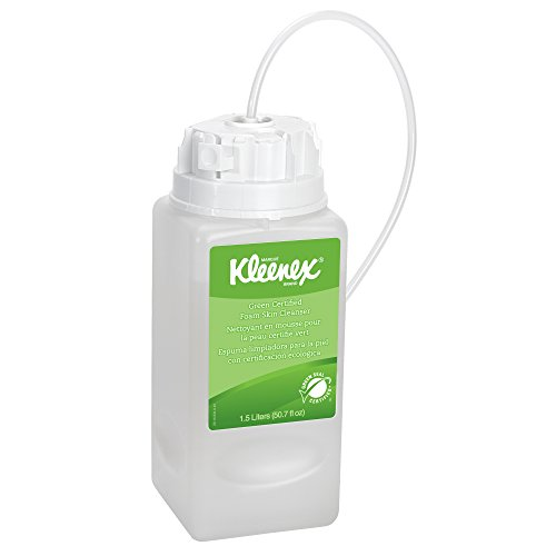 Kleenex Green Certified Foaming Hand Soap (11285), Unscented, Clear, 1.5 L Under-Counter Bottles, 2 Units / (Undercounter Bottle)