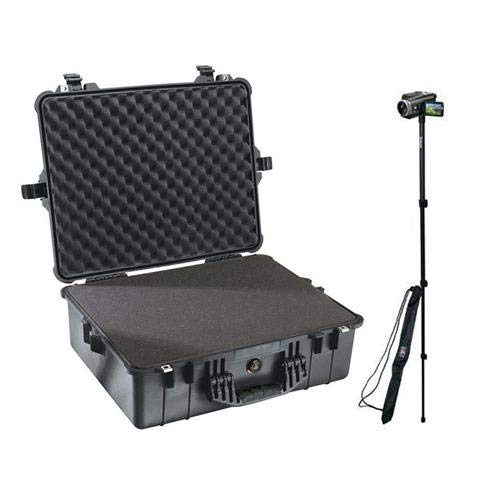 (Pelican 1600 Watertight Hard Case with Foam Insert - Black - with Ape Case 52in Lightweight Monopod with Case)