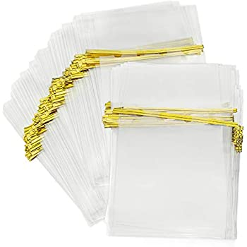 Amazon.com: 100 Pcs 10 in x 6 in Clear Flat Cello Cellophane ...