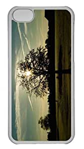 Customized iphone 5C PC Transparent Case - Tree Silhouette Photography Personalized Cover