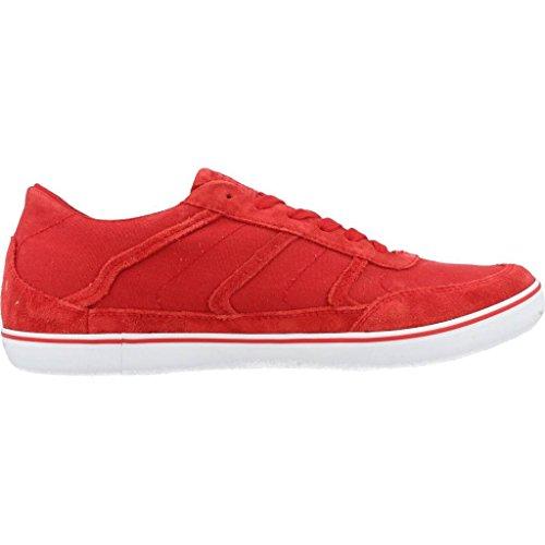 Geox U Box B, Baskets Basses Homme Rouge