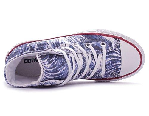 Converse Chuck Taylor Hi Canvas Graphic mixte adulte, toile, sneaker high, 36 EU