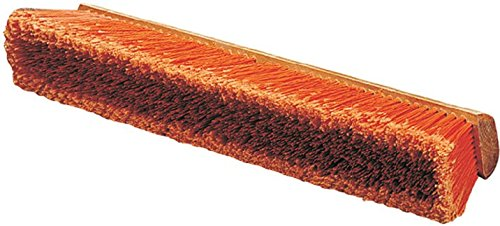 Carlisle 36222424 Flo-Pac Hardwood Block Medium Floor Sweep, Heavy Polypropylene Bristles, 24'' Block Size, Orange (Case of 12)
