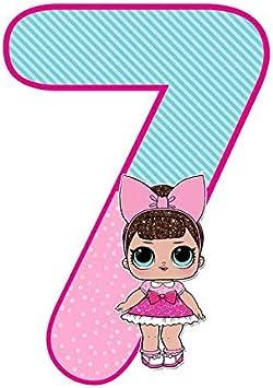 2 Cartoni Animati A4 Personalizzata Decorazione Dolce idea CIALDA in Ostia Bambole LOL Surprise Numero Form