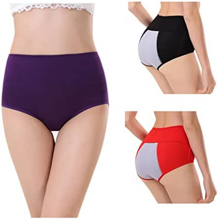 Womens Menstrual Protective Underwear Big Girls Leak Proof Period Panties Postpartum Briefs