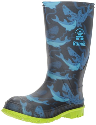 Kamik Boys' STOMP2/KIDS/CHA/4725 Rain Boot, Blue, 4 M US Big Kid by Kamik (Image #1)
