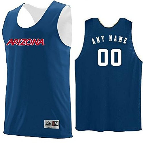 Arizona Wildcats CUSTOM (Name/#) or Blank Back Reverisble Basketball Jersey NCAA Officially Licensed Youth & Adult Tank Tops